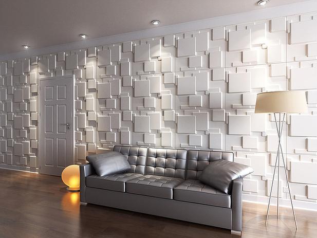 Revestimento parede alto relevo painel 3d mosaico m2 for Mosaico adesivo 3d
