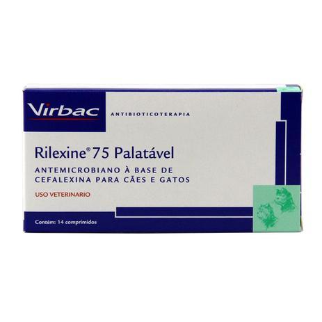 Imagem de Rilexine 75mg Antibiótico Cães e Gatos 14 comp Virbac