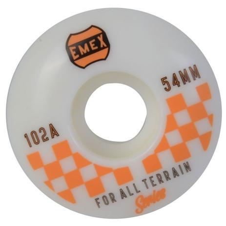 Imagem de Roda Emex 54mm 102A Orange Checkered Importada
