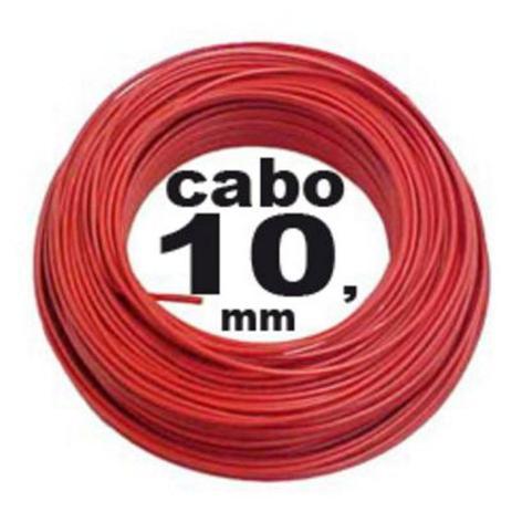Imagem de Rolo C/ 100 Metros Fio Cabo Flexível 10mm X 750v Vermelho - Tekfio