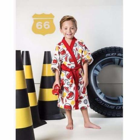 ce0ed75f12045d Roupão Infantil Felpudo Disney Carros Tam PP (2 A 3 Anos) - Lepper