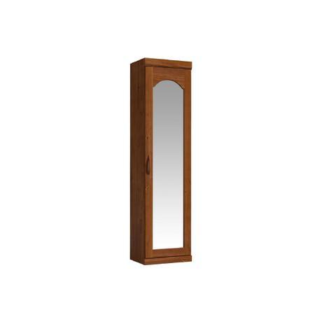 Imagem de Roupeiro Sapateira Parma 1 Porta C/espelho Imbuia Finestra