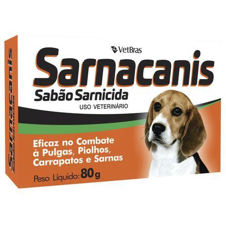 Imagem de Sabão Sarnicida Sarnacanis 80g Vetbras