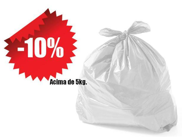 Imagem de Saco De Lixo Reforçado Branco 20 Litros Kg
