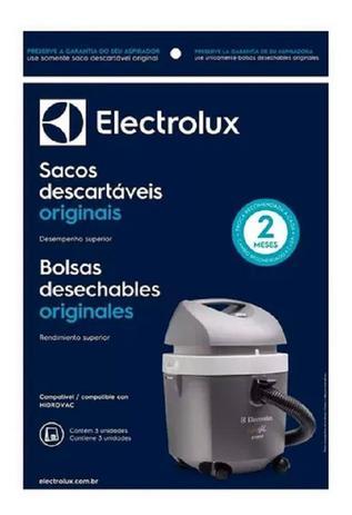 Imagem de Saco Descartável Para Aspirador Electrolux Hidrovac saco com 3 unidades