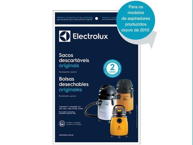 Saco para Aspirador de Pó Electrolux A20  - 13 Litros Descartável 3 Unidades