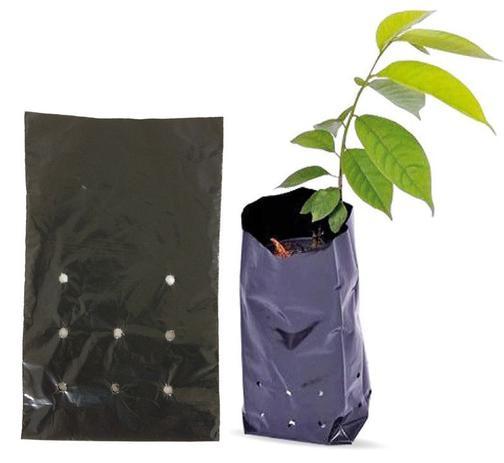 Imagem de Saco Para Mudas De Plástico Preto 15 X 25 Cm Com 500 Unid