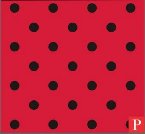 Imagem de Saco perolizado - little poá vermelho/preto: 35x55 c/ 50 un