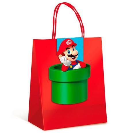 Imagem de Sacola para Presente com Fechamento Super Mario Bros 10 unidades - Cromus