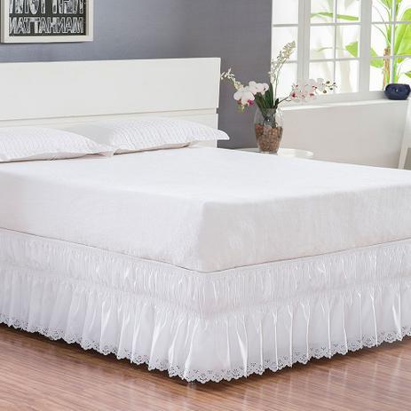 Imagem de Saia Box Queen Essenciale com Bordado Ultrassônico - Branco