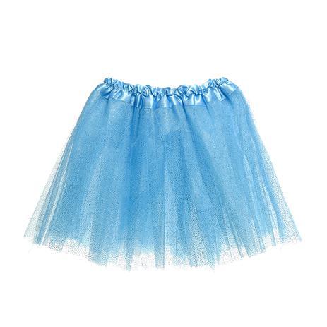 e66fa99c0f Saia Tutu Adulto Infantil Carnaval Azul Glitter Unicórnio - Cromus ...