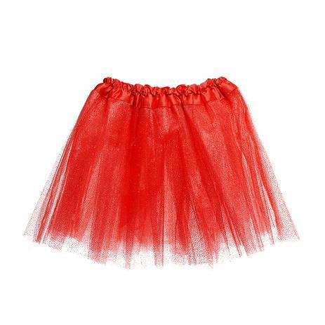a5ba73ae7f Saia Tutu Tule Adulto Carnaval Vermelho Glitter Unicórnio - Cromus ...
