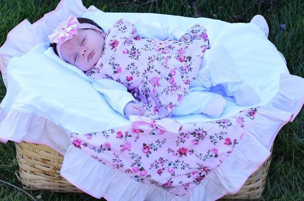 76b9e19d8e207 Saída de Maternidade Menina Luxo Floral Rosa 05 Peças - Sônia enxovais