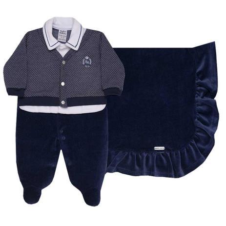 168303829 saída de maternidade menino azul marinho sonho mágico baby - Roupas ...