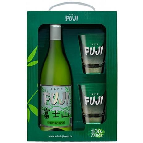Imagem de sake fuji 100% arroz + 2 copos