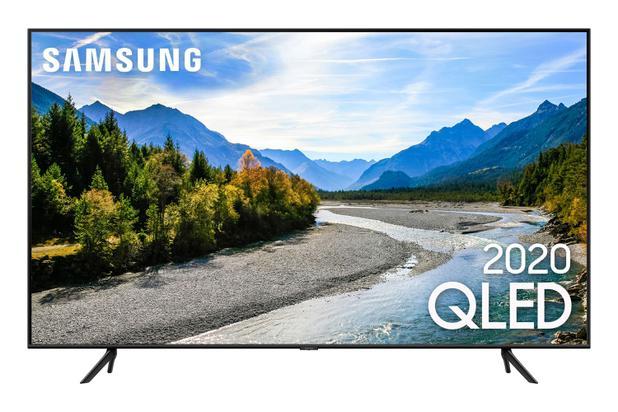 Imagem de Samsung Smart TV QLED 4K Q60T, Pontos Quânticos, Design sem Limites, Modo Ambiente Foto, Controle Único, Visual Livre de Cabos