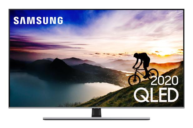 Imagem de Samsung Smart TV QLED 4K Q70T, Pontos Quânticos, HDR, Bordas Infinitas, Modo Ambiente 3.0, Controle Único, Visual Livre de Cabos