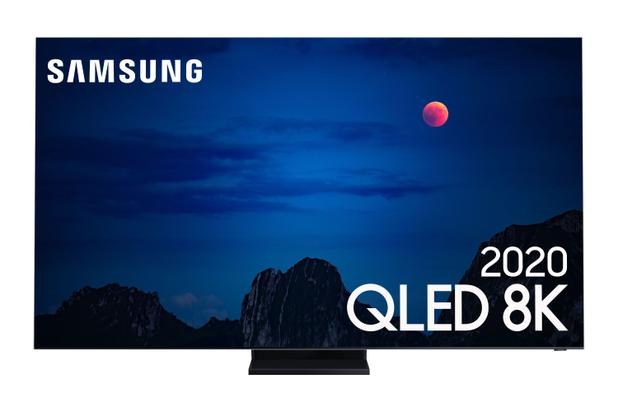 Imagem de Samsung Smart TV QLED 8K Q950TS, Tela Infinita, Processador com IA, Única Conexão e Suporte No-Gap, Som em Movimento, Modo Ambiente