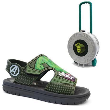 538347d53 Sandalia avengers hero pack 21902 - grendene - cinza/verde hulk ...