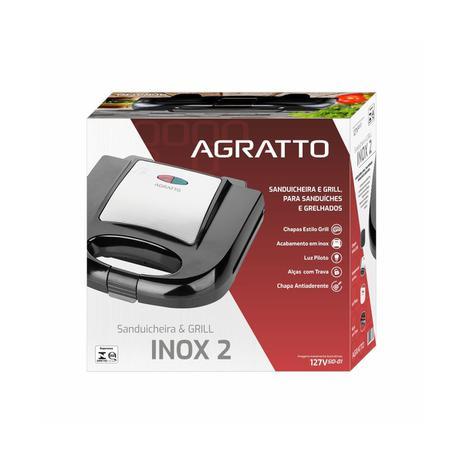 Imagem de Sanduicheira E Grill Elétrica Agratto Inox 750w