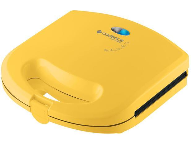 Sanduicheira/Mini Grill Cadence Easy Meal Color - 750W Antiaderente Amarelo - 110V