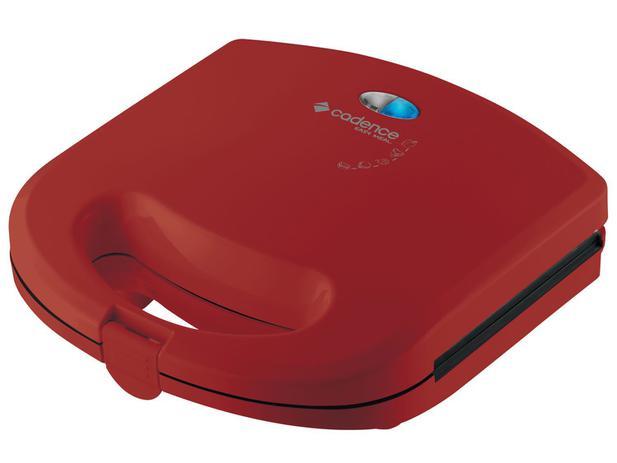 Sanduicheira/Mini Grill Cadence Easy Meal Color - 750W Antiaderente Vermelho - 220V