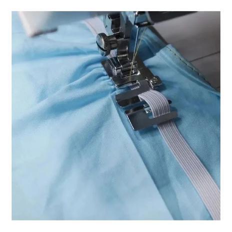 Imagem de Sapata Pé Calcador Passar Elástico Em Maquina De Costura Domestica
