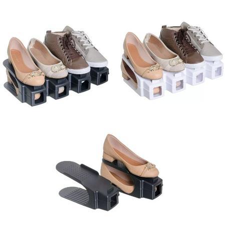 9741992d5 Sapateira 20 sapatos kit rack organizador de calcados tenis e sapato  armario double 10 pares - Faça resolva