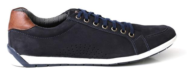 748c7ccf96 Sapatênis Casual Style Masculino Couro Nobuck - Azul - Tchwm shoes ...