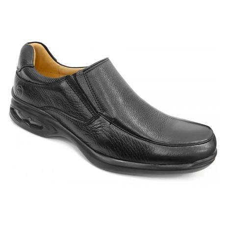 Imagem de Sapato couro c/amortecedor 6642 anatomic gel (11) - preto