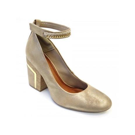 16a251cc0 Sapato de camurça 50974002 crysalis (02) - ouro - Sapato Social ...
