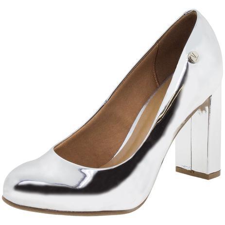 2cb03b540 Sapato Feminino Salto Alto Vizzano - 1260100 PRATA PRATA - Sapato ...