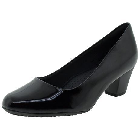 c423e58d33 Sapato Feminino Salto Baixo Piccadilly - 110072 VERNIZ/PRETO VERNIZ/PRETO