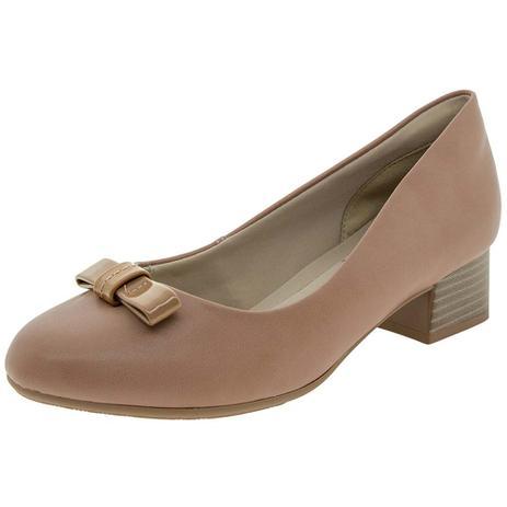 7c325199c7 Sapato Feminino Salto Baixo Ramarim - 1798106 BEGE BEGE - Sapato ...