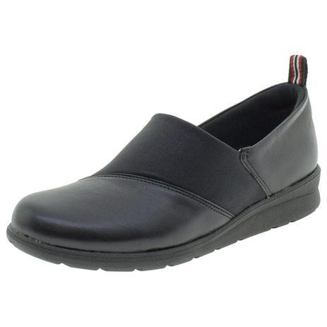 da863209e Sapato Feminino Salto Baixo Usaflex - AB9503 PRETO PRETO - Sapato ...