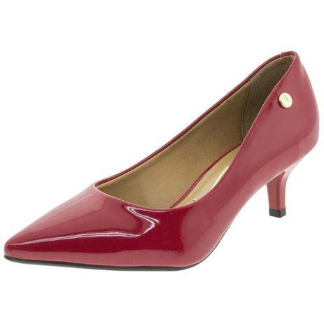 13fcfe369 Sapato Feminino Scarpin Salto Baixo Vizzano - 1122628 VERMELHO VERMELHO