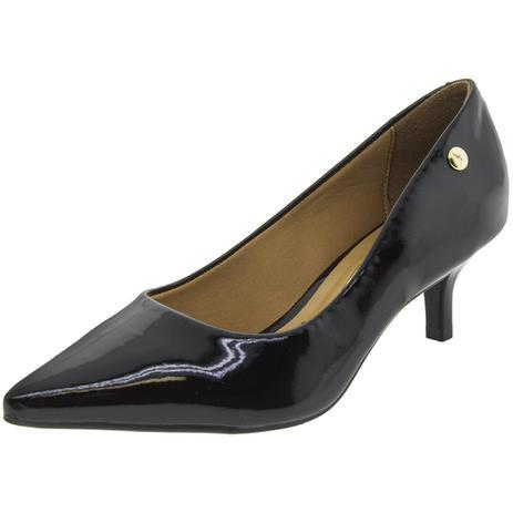 1b425a85ad Sapato Feminino Scarpin Salto Baixo Vizzano - 1122628 VERNIZ PRETO  VERNIZ PRETO
