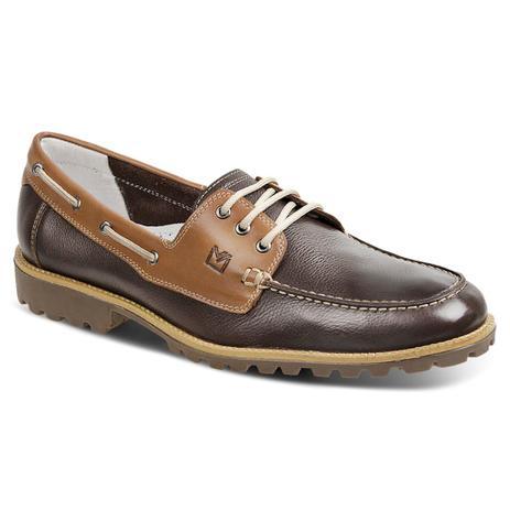 9c03744a0 Sapato masculino dockside sandro moscoloni fire marrom escuro coffee ...