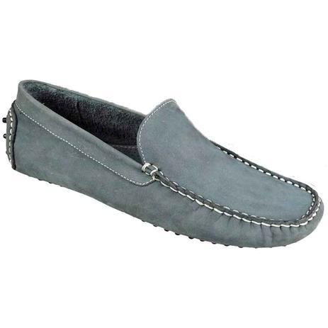 835855025 Sapato masculino driver sandro moscoloni south west cinza jeans ...