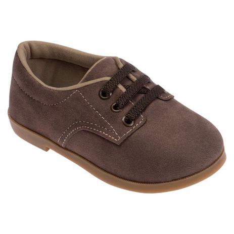 c13ee98684 Sapato para Bebês - Camurça e Sola de Borracha - Marrom - Pimpolho ...