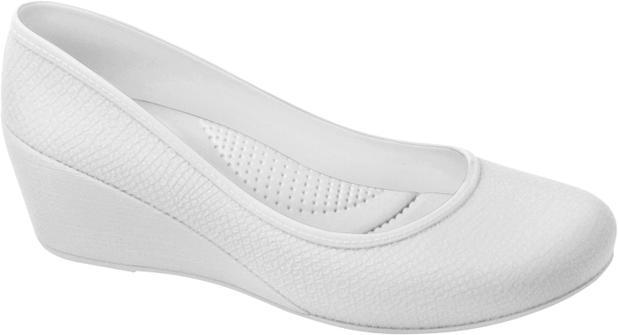 79c9f1675 Sapato Profissional Feminino Caren Branco Boa Onda - - - Magazine Luiza