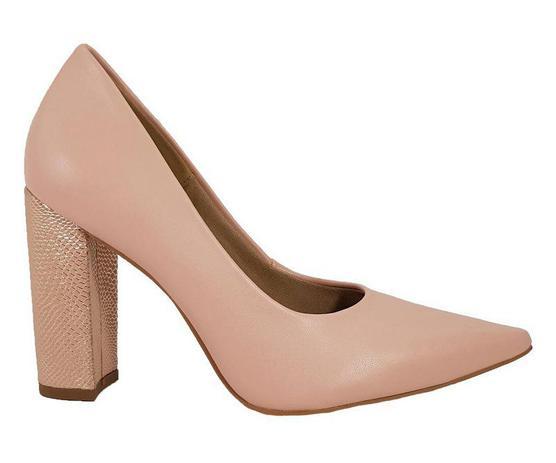 f56e36d750 Sapato Salto Grosso Numeros Especiais Nude Dom Amazona Cd479 - Dom amazona