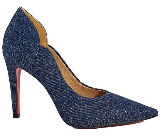 9218c74cc7 Sapato Scarpin Feminino Salto Alto Jeans Azul Cód 31 - Dom amazona ...
