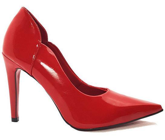 743b876f11 Sapato Scarpin Feminino Salto Alto Verniz Vermelho 33 ao 43 Dom Amazona Cód  31 - Dom amazona