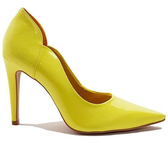 981697a01c Sapato Scarpin Feminino Salto Verniz Amarelo Dom Amazona Cód 31 - Dom  amazona