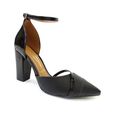 9de4a0c23722 Sapato scarpin salto grosso 1264.102 - vizzano 62 - preto - Scarpin ...