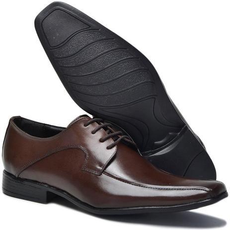 1a97c76f7b Sapato Social Masculino em Couro Bico Quadrado Cadarço Macio - Eco social