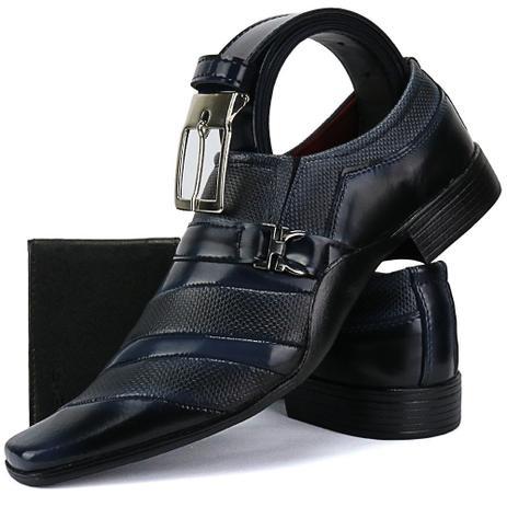 c1eac74fd2 Sapato Social Masculino Linha Italiano Exclusivo Cinto E Carteira - Ws shoes