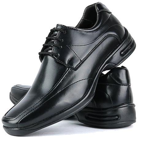 7d543953a7 Sapato Social Masculino Ortopédico Linha Gel Lançamento Preto - Fran shoes