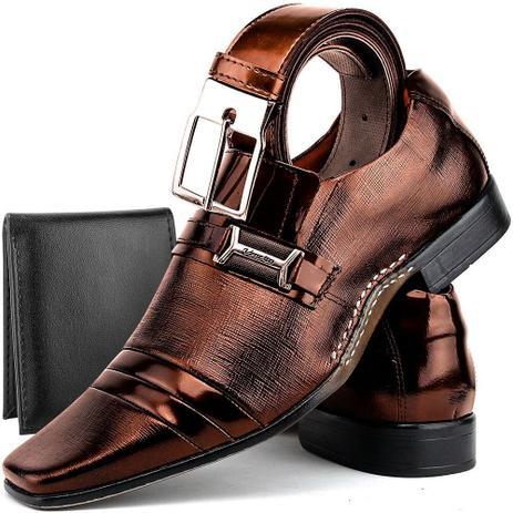 d601727a93 Sapato Social Masculino Slim FIt Com Kit Cinto E Carteira - Venetto ...